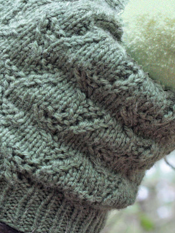 Tributary Eyelet Stitch Hat Free Knitting Pattern