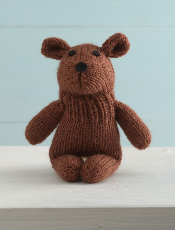 Tubby Teddy Sock Critter Free Toy Knitting Pattern