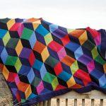 Upscale Tumbling Blocks Throw Free Knitting Pattern