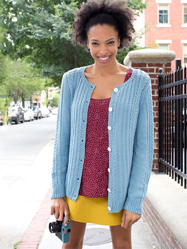 Watson Cabled Cardigan Free Knitting Pattern Knitting Bee