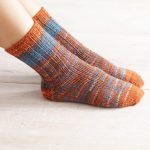 Womens Double Strand Toe Up Socks Free Knitting Pattern