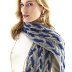 Zealana Cabled Scarf Free Knitting Pattern