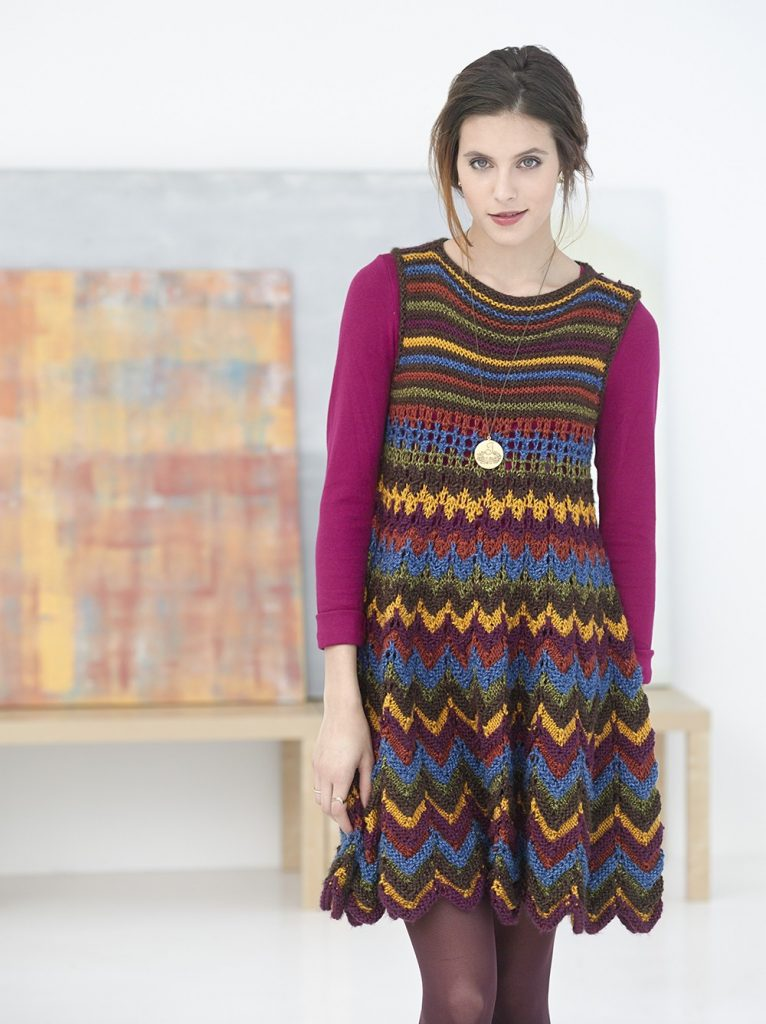 Zig Zag Dress Free Knitting Pattern