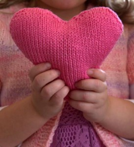 free heart knitting pattern