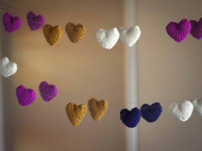 heart garland free knitting pattern