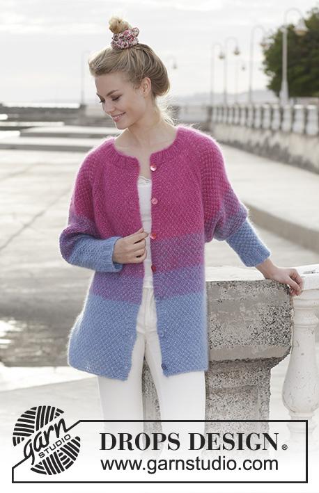 Blackberry Crush Cardigan Free Knitting Pattern for Women to Download.