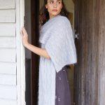 Aara Textured Wrap Free Knitting Pattern Download.