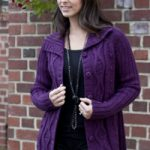 Alpaca Cabled Cardigan Free Knitting Pattern