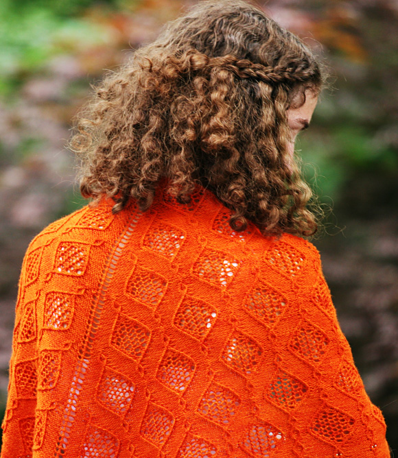 Bauble Lace Shawl Free Knitting Pattern Download