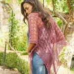 Birch Lace Shawl Free Knitting Pattern Download. Fingering weight triangle lace shawl to knit.