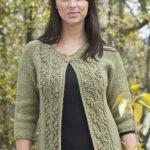 Bobble Vine Jacket Free Knitting Pattern