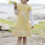 Bright Smile Girl's Dress Free Knitting Pattern