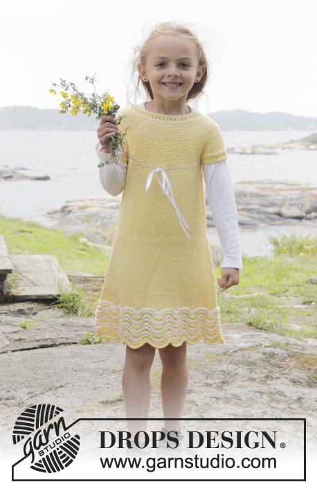 Bright Smile Girl's Dress Free Knitting Pattern