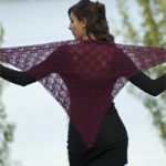 Catherine Lace Shawl Free Knitting Pattern Download. Triangle lace scarf to knit with beautiful lace stitch pattern, perfect for a Summer wrap.