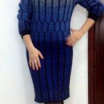 Classical Elegance Round Yoke Cable Dress Free