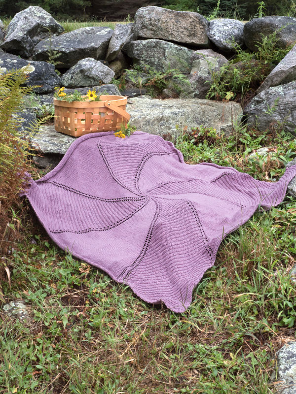 Damariscove Free Lace Baby Blanket Knitting Pattern