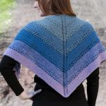 Fingering Eyelet Color Shift Shawl Free Knitting Pattern