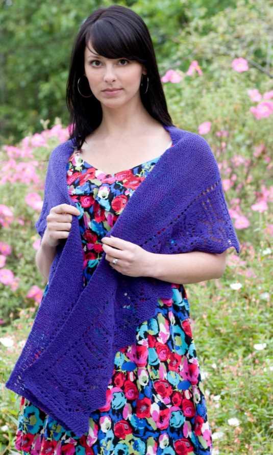 Fingering Rocketship Lace Shawl Free Knitting Pattern Download