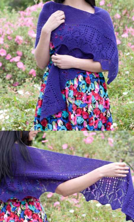 Fingering Rocketship Lace Shawl Free Knitting Pattern Download. FREE pattern to knit for a stunning lace shawl.