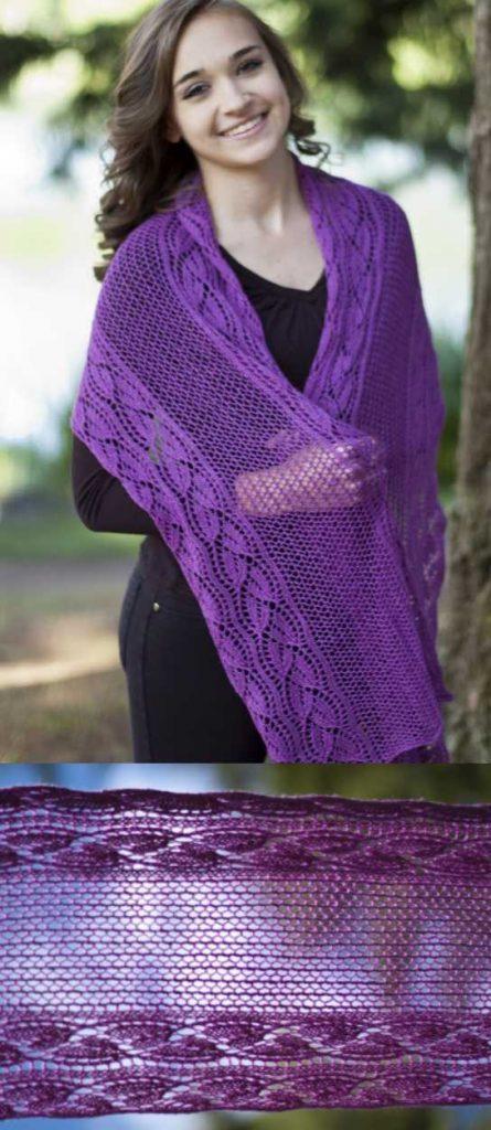 Forest Hills Dayflower Wrap Free Knitting Pattern Download