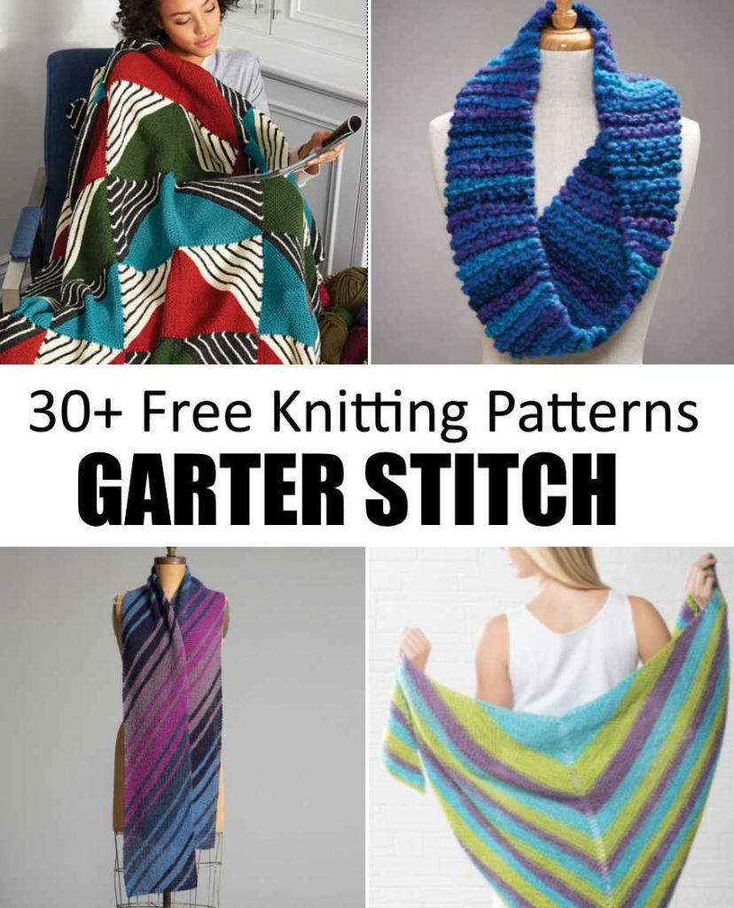 30 Easy Free Garter Stitch Knitting Patterns To Download Now 57