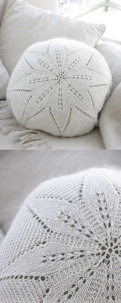White Flower Pillow Free Lace Knitting Pattern ⋆ Knitting Bee