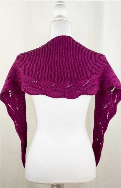 Hampton Shawlette Free Knitting Pattern