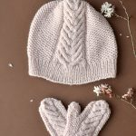 Heartsbloom Hat and Mittens Free Knitting Pattern for Children