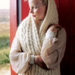 Helsinki Cable Scarf Wrap Free Knitting Pattern