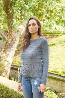 Hermia Raglan Jumper Free Knitting Pattern