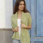 Kalamua Lace Shawl Free Knitting Pattern Download. Knitted stole with chevron lace pattern. Moderate lace knitting pattern.