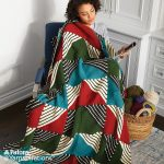 Knit Patchwork Blanket Free Pattern