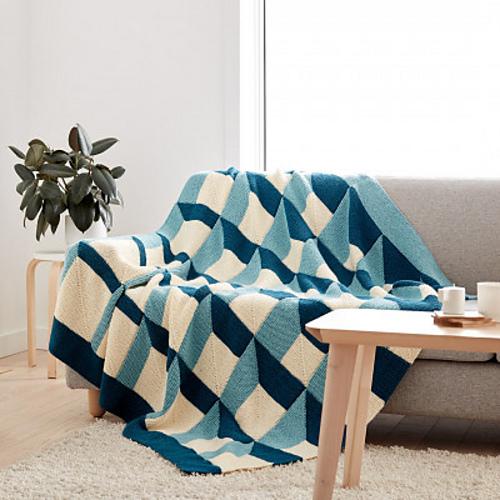 Knit Shadowbox Blanket Free Knitting Pattern