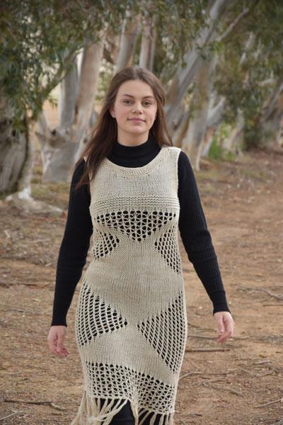 Lacy Dress Free Knitting Pattern