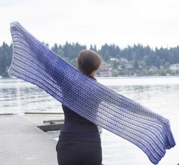 Lavender Haze Prayer Shawl Free Knitting Pattern