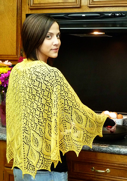Omelet Lace Shawl Free Knitting Pattern Download