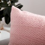 Patons Knit Herringbone Pillow Free