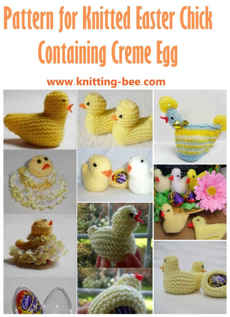 Pattern For Knitted Easter Chick Containing Creme Egg Knitting Bee