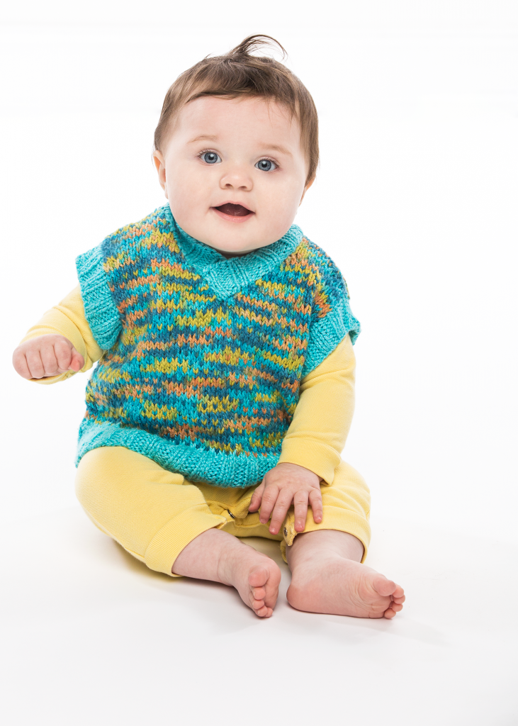 Prismatic Silk Vest Free Child Knitting Pattern