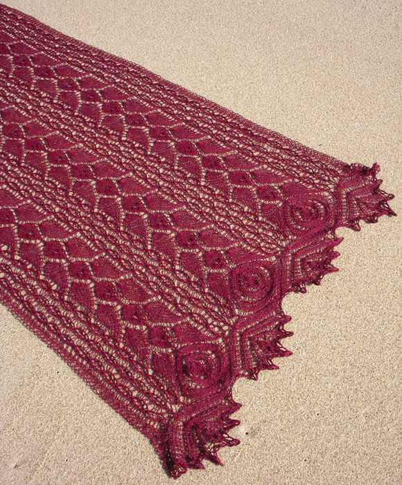 Rhodion Lace Shawl Free Knitting Pattern