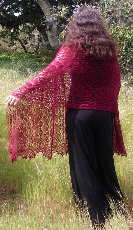 Free Free Lace Leaf Stitch Shawl Knitting Patterns