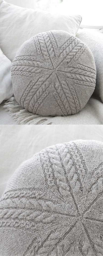 Sand Tracks Pillow Free Cable Knitting Pattern Knitting Bee