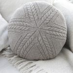 Sand Tracks Pillow Free Cable Knitting Pattern