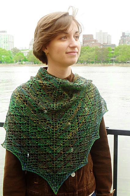 Semi-Precious Lace Shawl Free Knitting Pattern Dowload