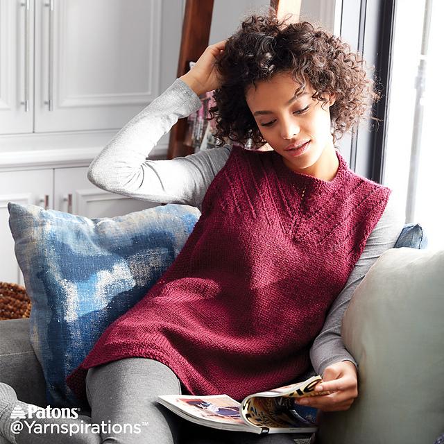 Sleeveless Knit Shell Top Free Pattern