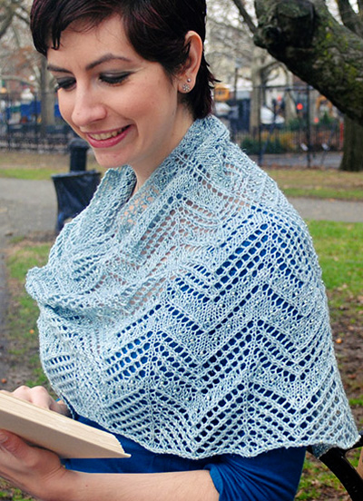 Stars in the Twilight Lace Shawl Free Knitting Pattern Download