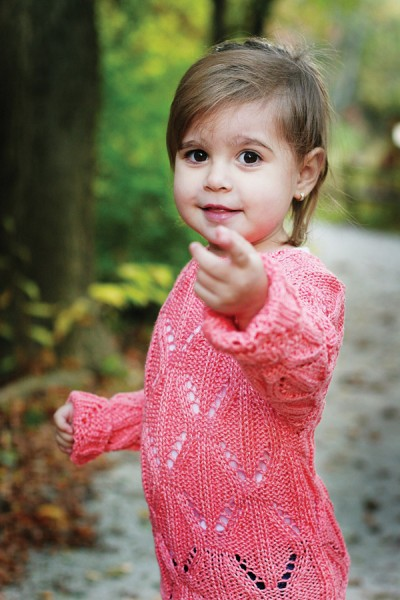 Tea Party Lace Sweater for Girls Free Knitting Pattern