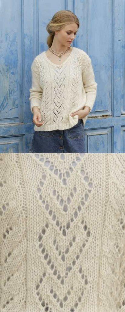 The Pearl Free Lace Sweater Knitting Pattern Knitting Bee