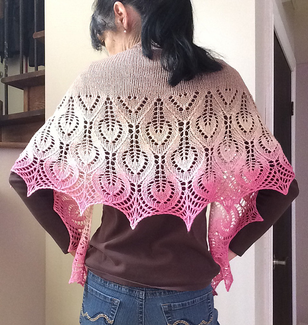 Vanesse Lace Shawl Free Knitting Pattern Download. Butterfly shawl to knit.