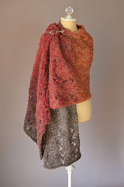 Warmth Lace Shawl Free Knitting Pattern Download. This stole is worked widthwise from one end to the other.